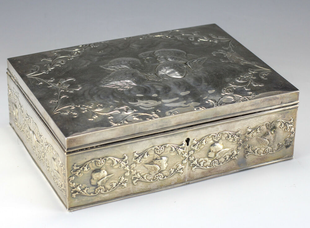 sterling silver jewelry box by william comyns repousse
