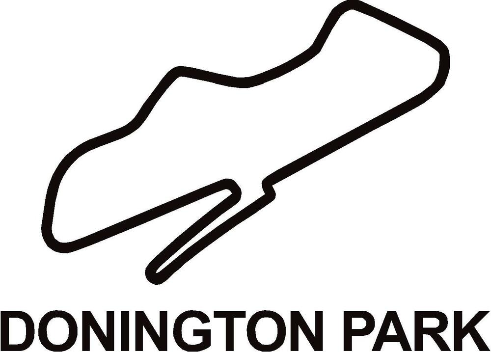 x2 donington park circuit race track outline vinyl decals