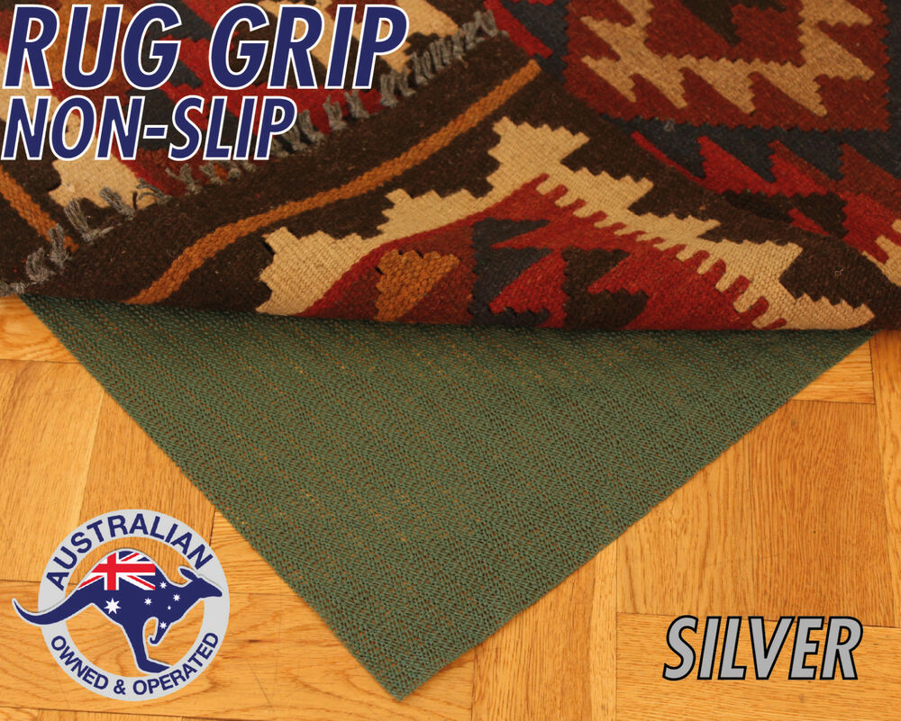 silver grade rug grip non slip underlay pad for rugs and runners ebay. Black Bedroom Furniture Sets. Home Design Ideas