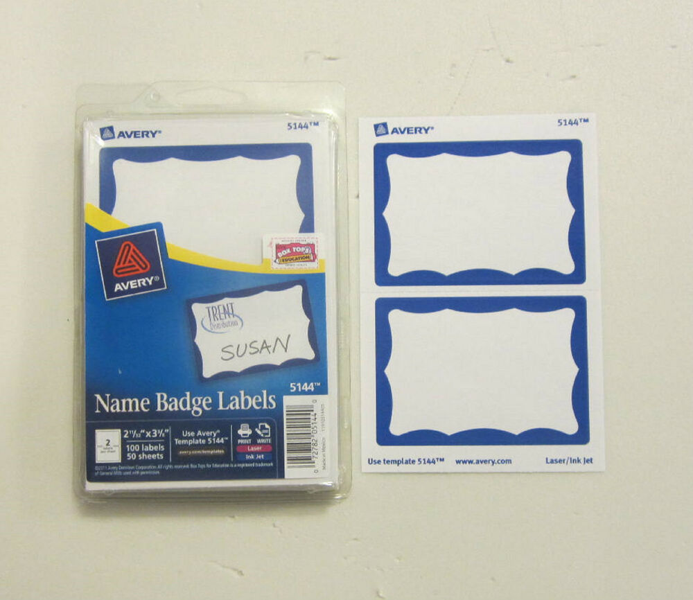 avery name tag labels 25 avery dennison blue border badges name tags