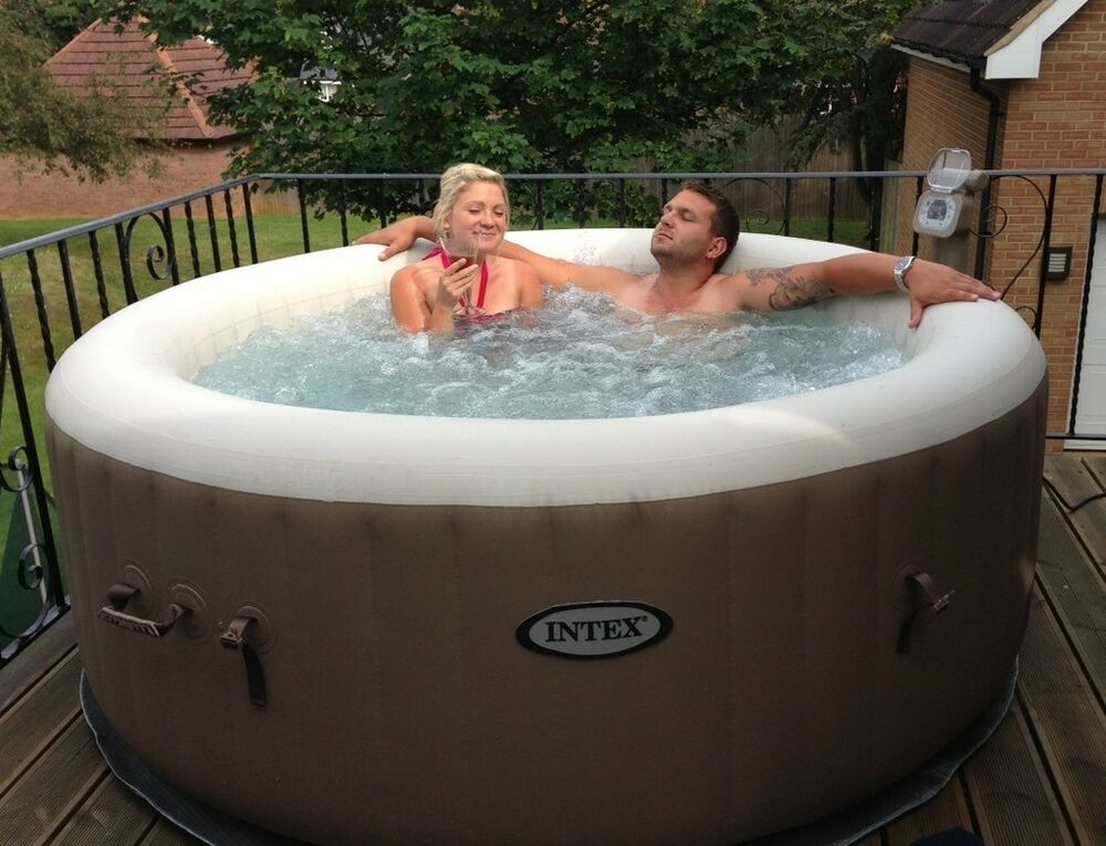 pure spa inflatable 6 person portable spa hot tub spas. Black Bedroom Furniture Sets. Home Design Ideas