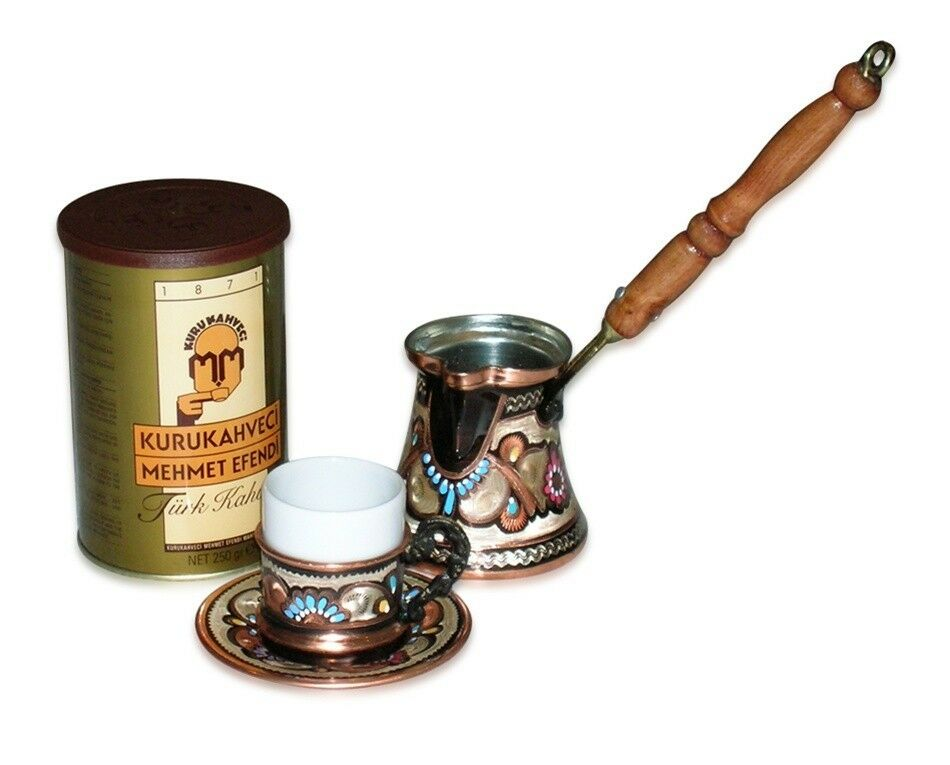 Turkish Coffee Set for One with Mehmet Efendi coffee | eBay