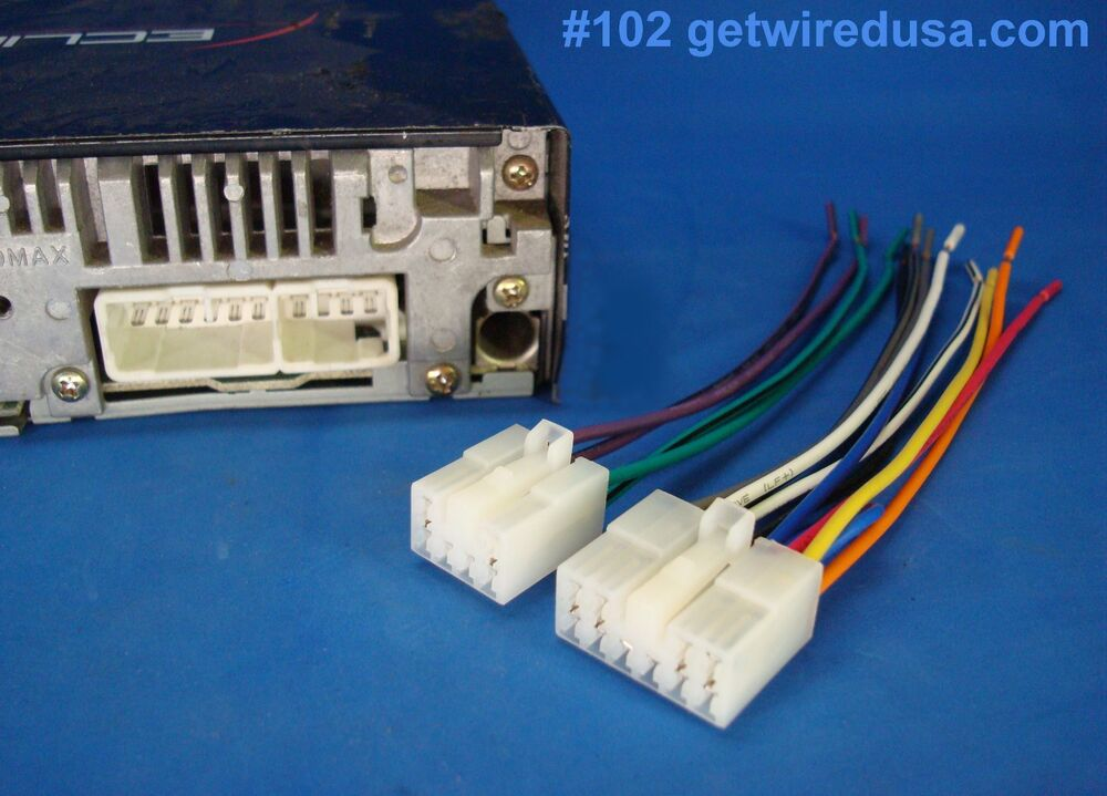 us seller eclipse stereo   radio wire harness power plug