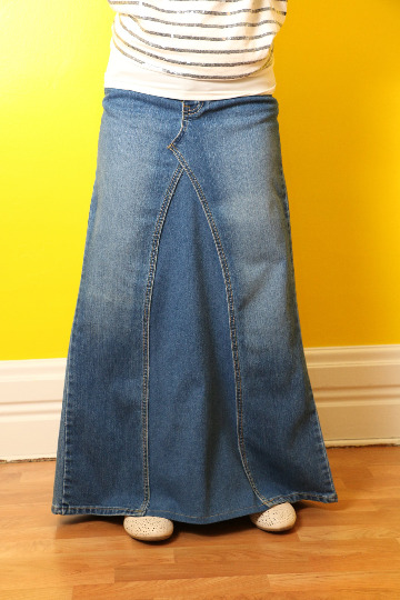 custom denim skirt recycled converted