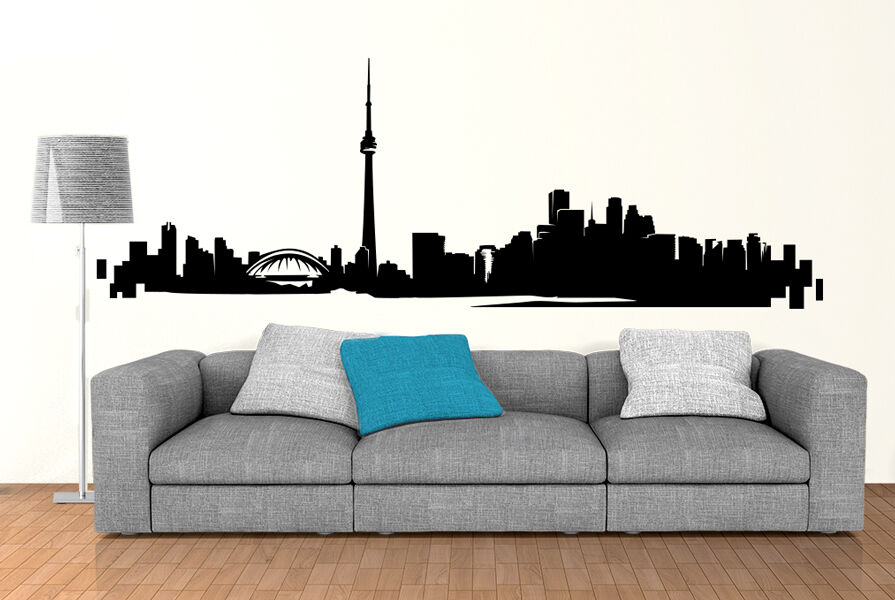 Toronto Skyline Wall Art Decal Vinyl Sticker Decor Mural