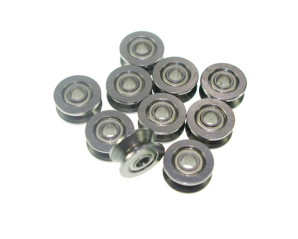 (10) 624VV 4mm V Groove Sealed Guide Pulley Rail Ball ...