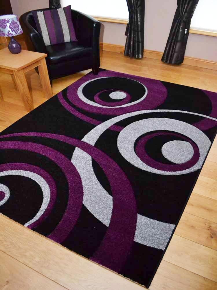 purple rugs for bedroom new small large purple and silver black thick 16888