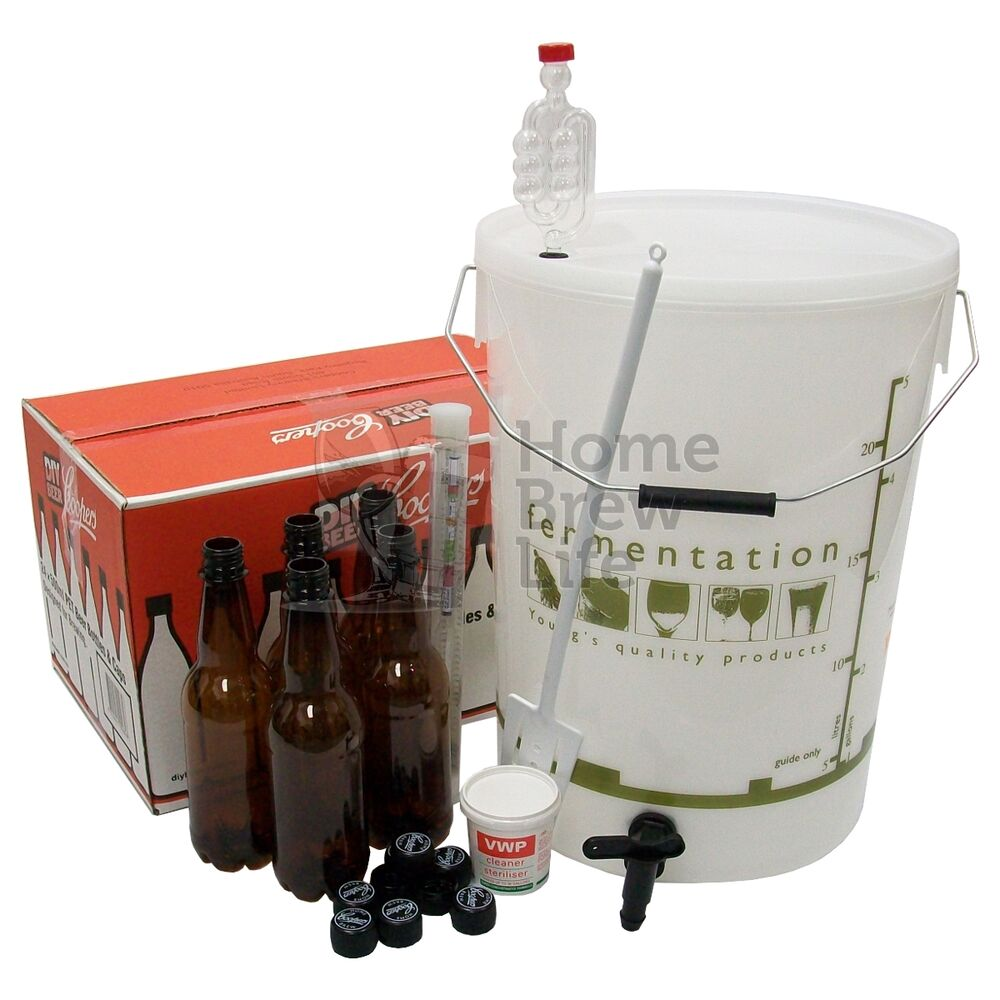 New starter home brew kit with bottles for beer making for Best craft beer kit