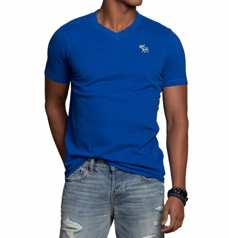 Abercrombie fitch men bushnell falls moose v neck tee t for Abercrombie and fitch t shirts online shopping
