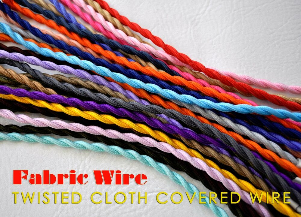 Cloth Covered Wire 10 Ft Twisted Lamp Cord Vintage
