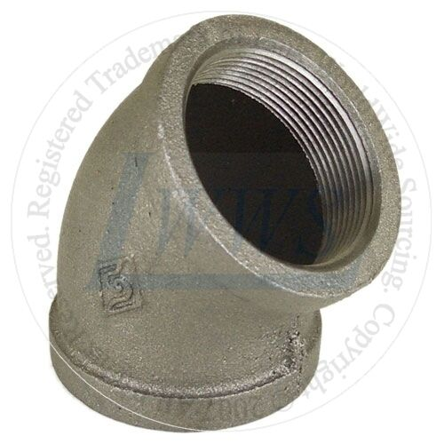 Quot black malleable pipe fitting degree elbow lot of