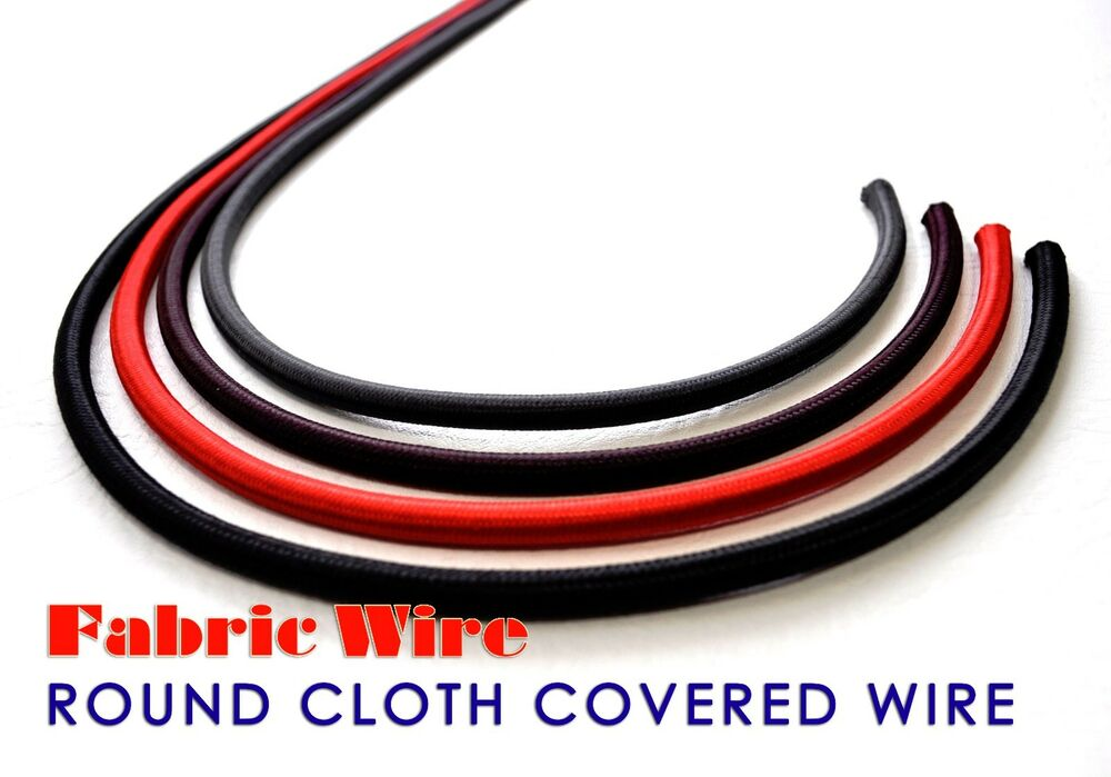 cloth covered wire 10 ft round svt lamp cord vintage style fabric. Black Bedroom Furniture Sets. Home Design Ideas