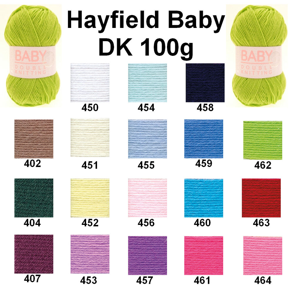 Hayfield Knitting Patterns For Babies : Hayfield by Sirdar Baby DK 100g Double Knitting Wool Yarn - ALL COLOURS eBay