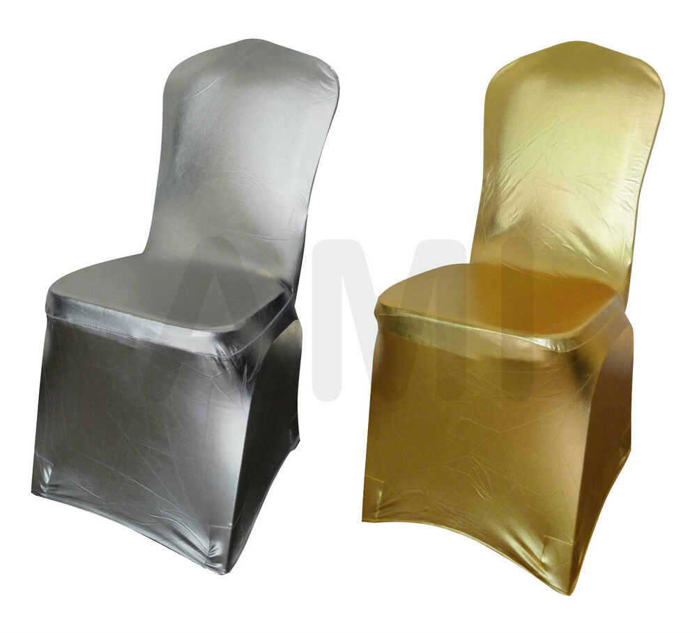 Premium Metallic Gold Amp Silver Spandex Lycra Chair Covers