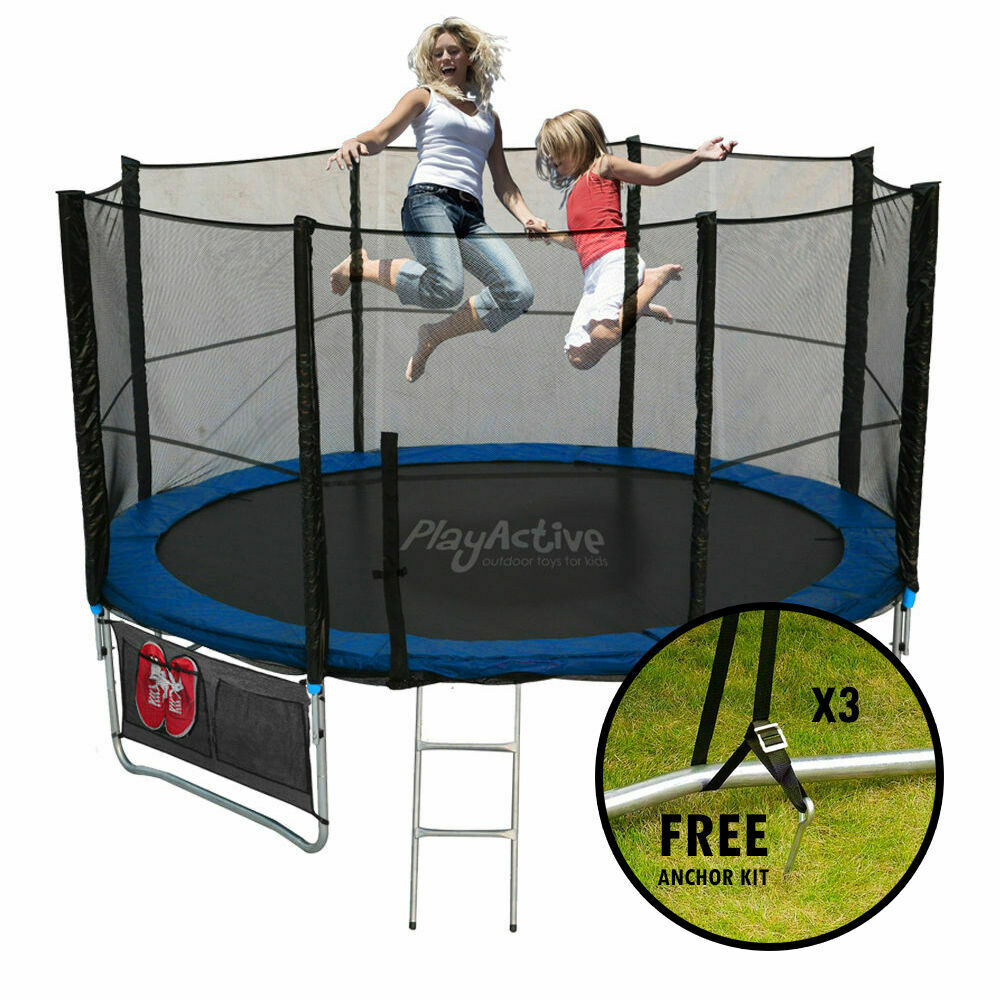 New Heavy Duty Trampoline 14 Ft With Ladder Safety Net: 14FT Trampoline With FREE Safety Net Enclosure, Ladder