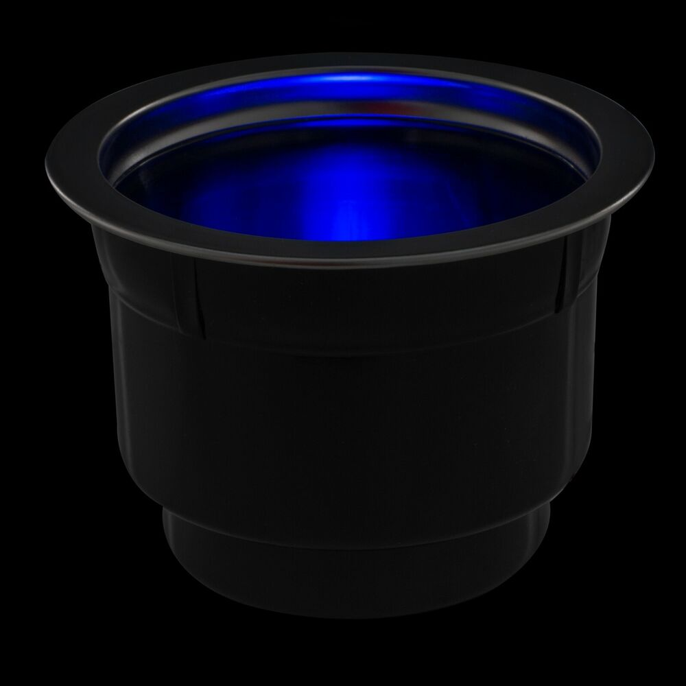 2 new blue led light marine boat rv camper cup drink holder lights up blue ebay. Black Bedroom Furniture Sets. Home Design Ideas