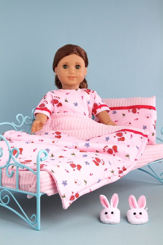 Perfect Bedding Set For 18 Inch American Girl Doll