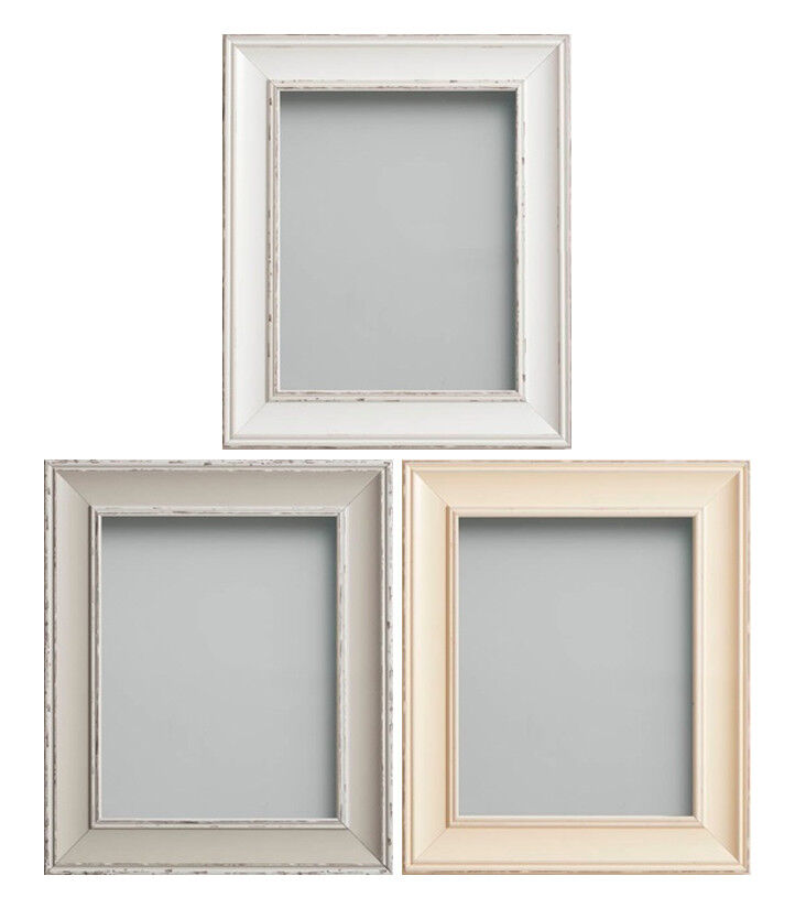 frame company brooke range rustic white grey or cream picture photo frames ebay
