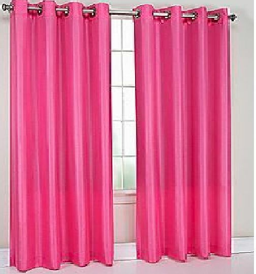 Curtains Ideas how many curtain panels : panels BLACKOUT HOT PINK grommet silk window curtain lined | eBay