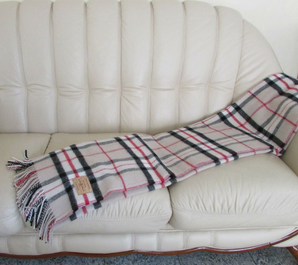 englische wolldecke plaid tagesdecke aus wolle decke blanket 140x205 ebay. Black Bedroom Furniture Sets. Home Design Ideas
