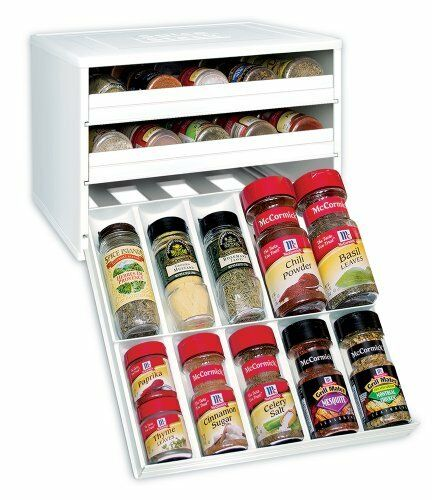 Kitchen Cabinet Spice Rack Organizer: New Kitchen Storage Stack Organizer Spice Bottle Rack