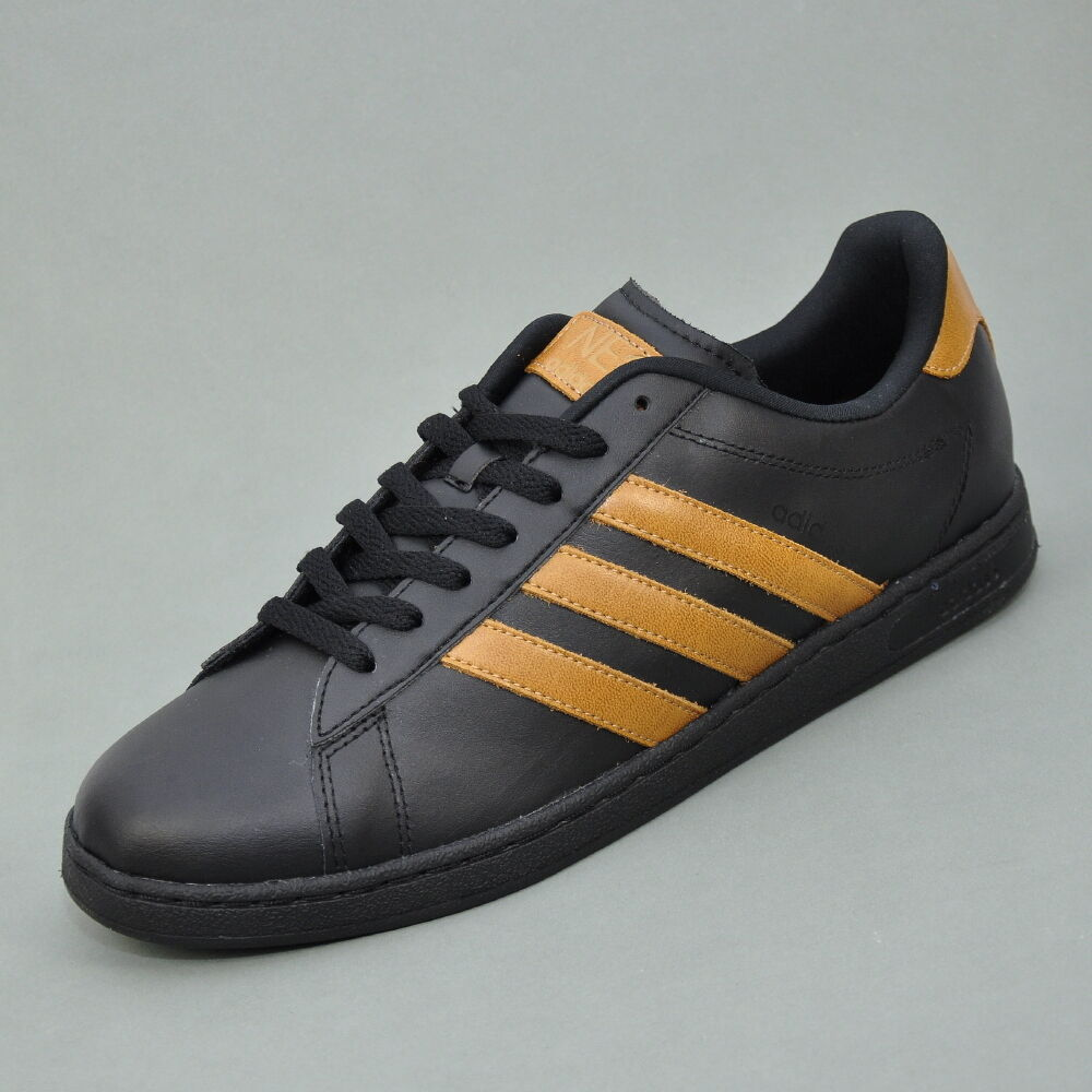 adidas neo derby ii le herren sneaker schuhe schwarz braun q26244 ebay. Black Bedroom Furniture Sets. Home Design Ideas