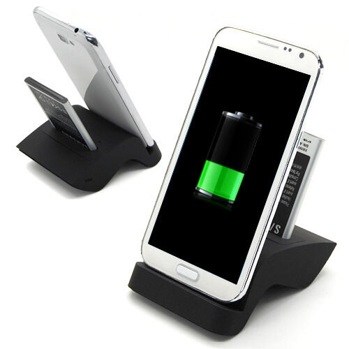 dual sync battery dock charger cradle holder for samsung galaxy note 2 ii n7100 ebay. Black Bedroom Furniture Sets. Home Design Ideas