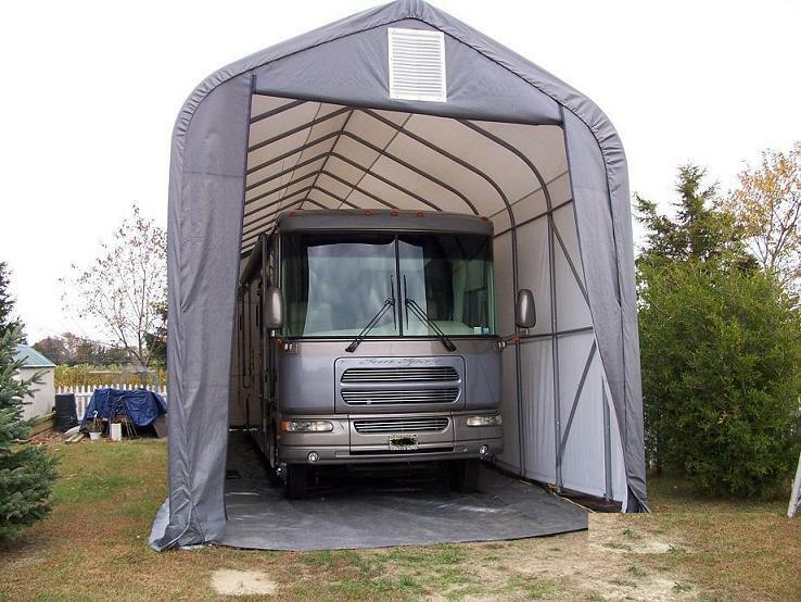 Portable Garage Canopy : Peak shelterlogic rv boat portable garage canopy