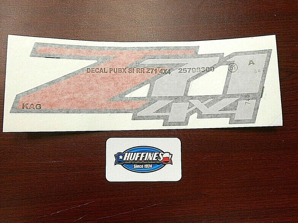 New Oem Z71 4x4 Bedside Decal 2007 2014 Chevrolet