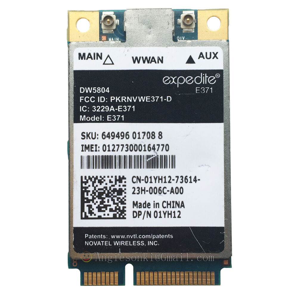 Dell DW5804 4G (LTE−3G) Mobile Broadband Minicard