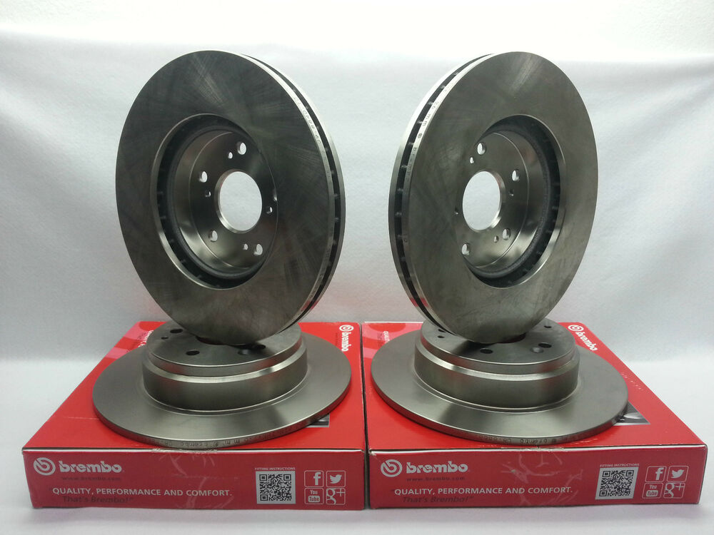 genuine brembo set front rotors rear rotors toyota camry. Black Bedroom Furniture Sets. Home Design Ideas