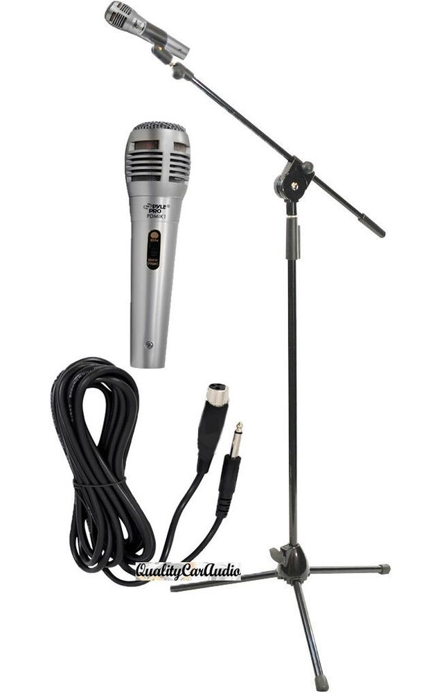 new pyle professional handheld microphone   stand   6 5ft