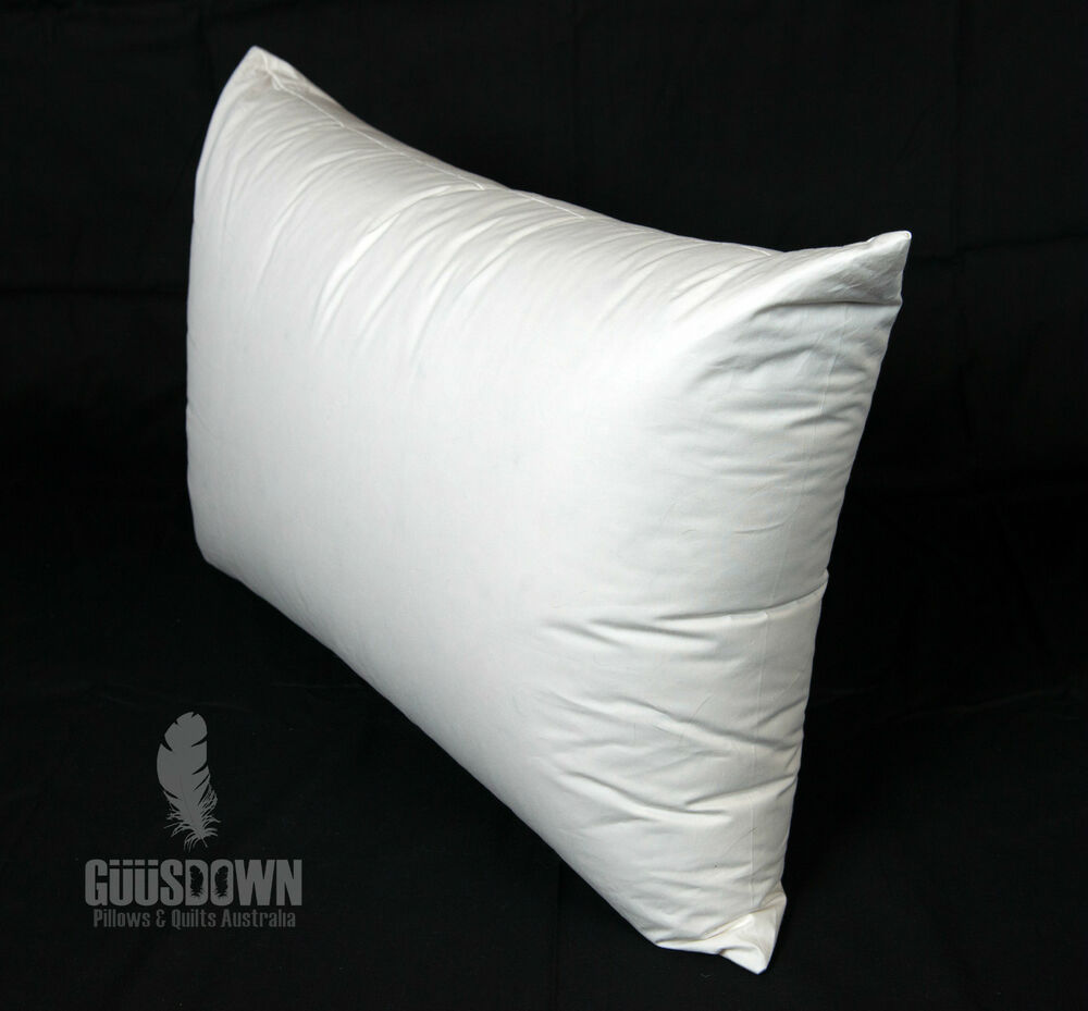 European Goose Down Surround Pillow Soft Support Made