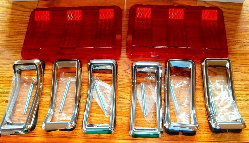 Ford Mustang Parts >> 1968 Ford Mustang Tail Light Lens and Bezel Trim Kit NEW ...