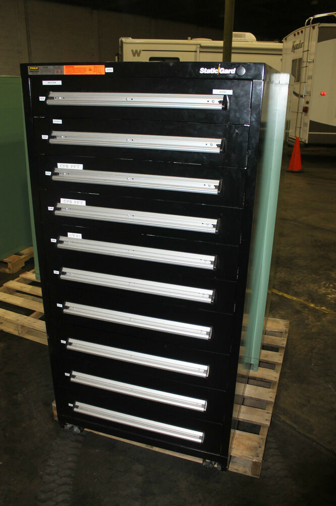 Stanley Vidmar 10 Drawer Tool Storage Cabinet Shop