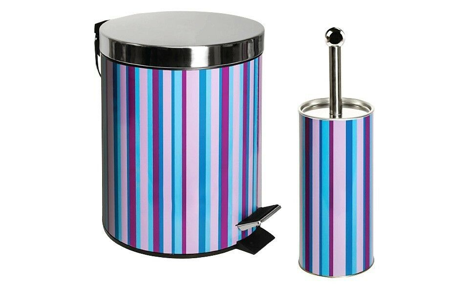 Stainless steel bathroom waste basket trash can toilet for Bathroom garbage can