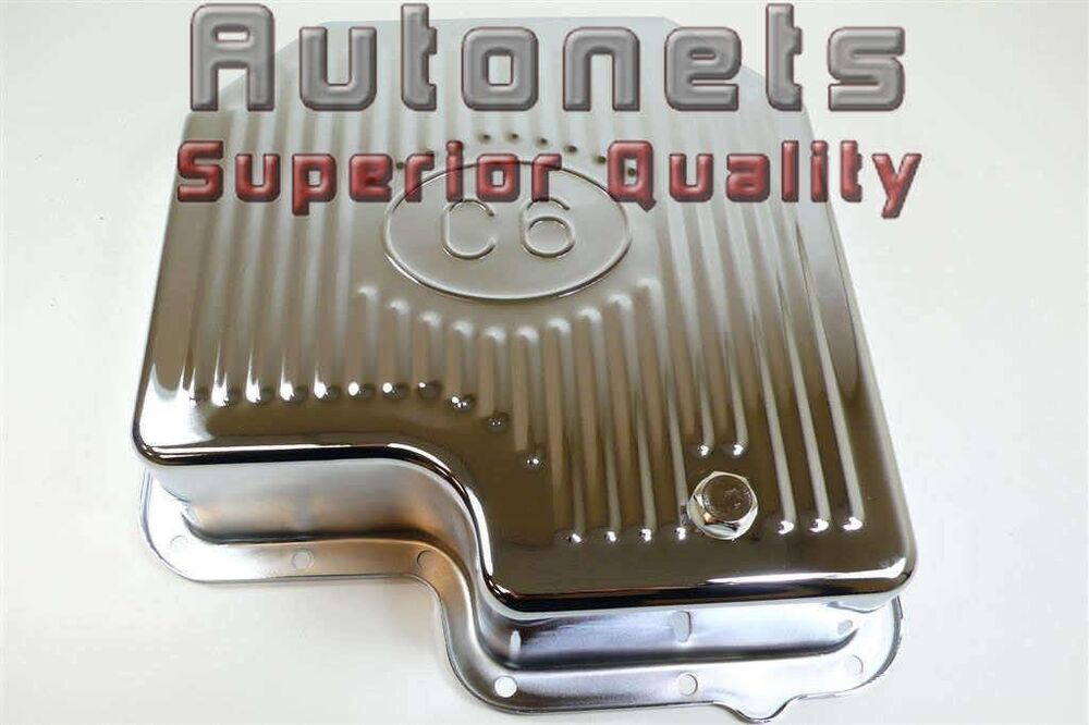 chrome steel ford mustang c 6 transmission oil pan extra capacity ebay. Black Bedroom Furniture Sets. Home Design Ideas