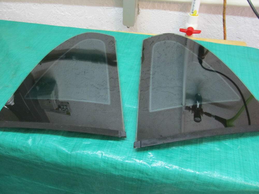1994 98 mustang oem ford side rear quarter window glass for 1966 mustang quarter window installation