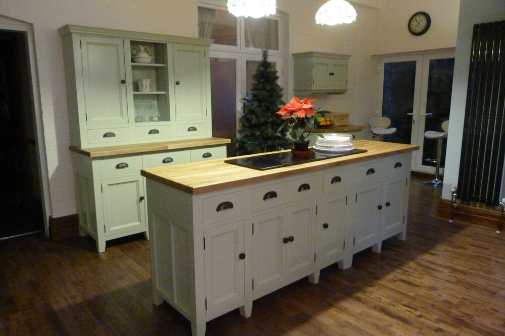 painted free standing kitchen units 5 piece set ebay