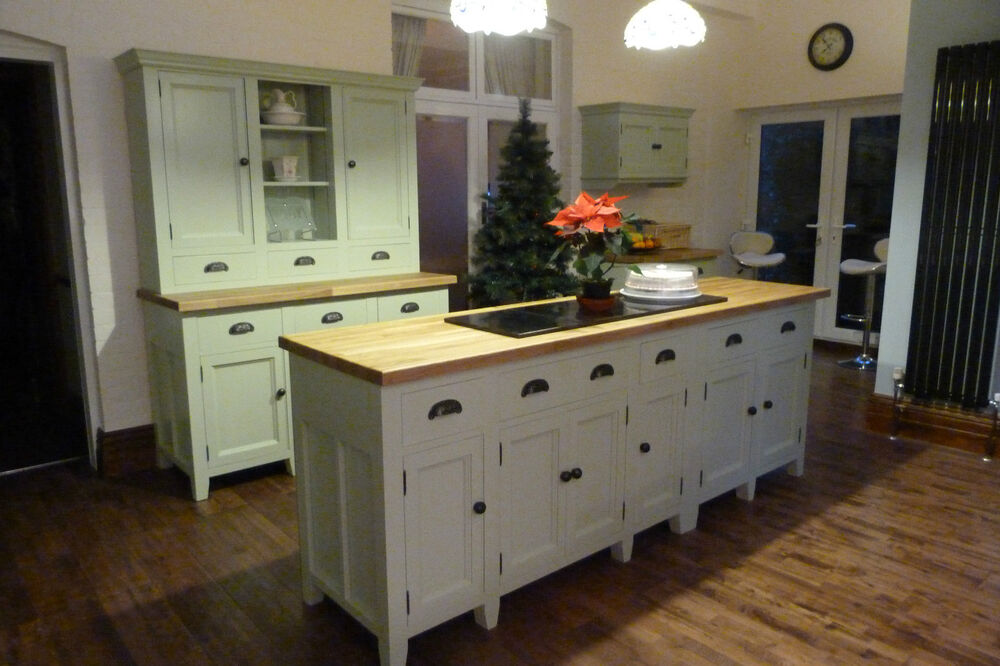 Painted free standing kitchen units 5 piece set ebay for Kitchen unit set