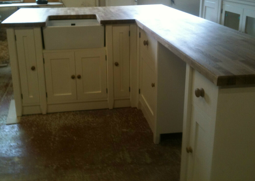 Painted Free Standing Kitchen Sink Corner Unit Ebay