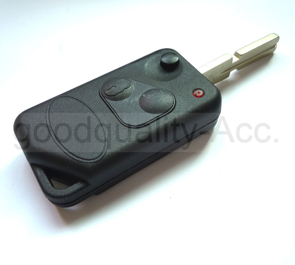 2 Buttons Fob Flip Key Case Shell For Land Rover Discovery