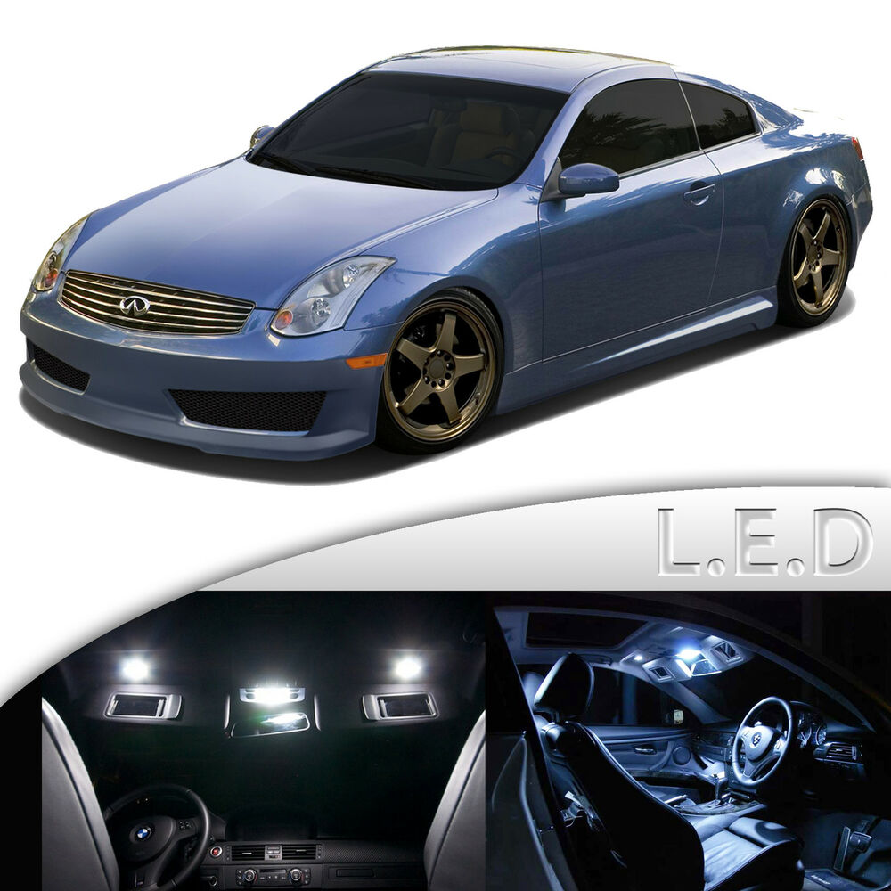 9 pcs super white led smd dome map interior light kit for infiniti g35 coupe ebay. Black Bedroom Furniture Sets. Home Design Ideas