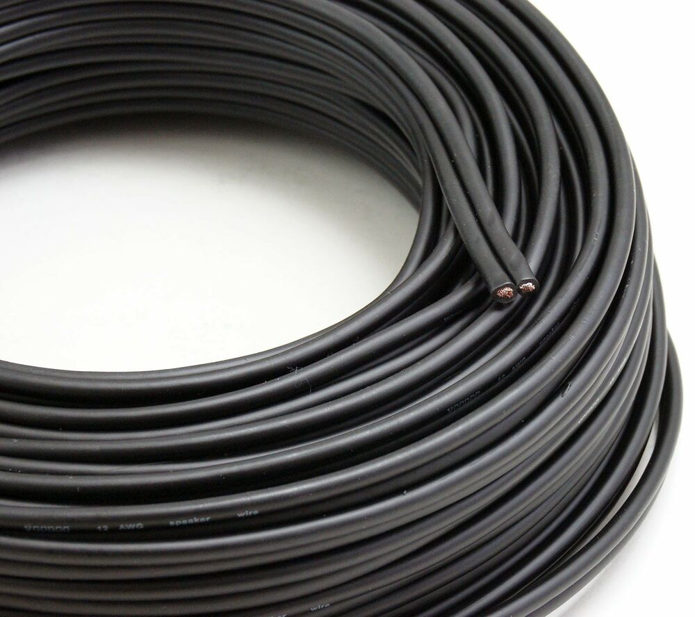 Speaker Wire Size : Voodoo black speaker wire gauge true awg spec