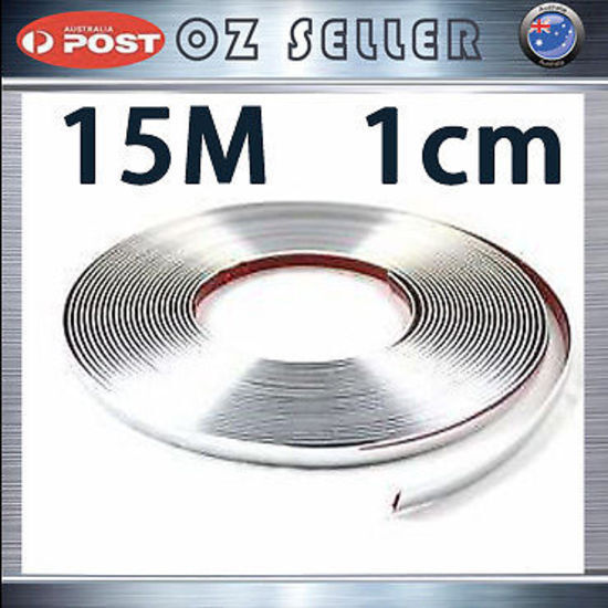 15m 10mm chrome trim strip car interior door molding universal adhesive sticker ebay. Black Bedroom Furniture Sets. Home Design Ideas