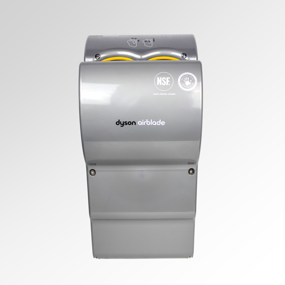 dyson airblade ab03 hand dryer in silver ebay. Black Bedroom Furniture Sets. Home Design Ideas