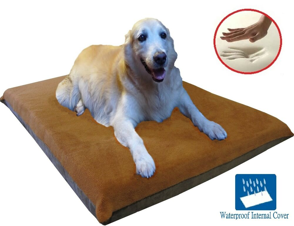 "41X27""X4"" Sudan Brown Orthopedic Waterproof Memory Foam"