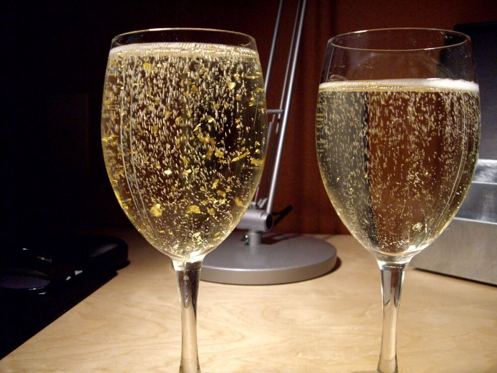 24ct Edible Gold Leaf 10 Sheets Champagne Drinks Cake