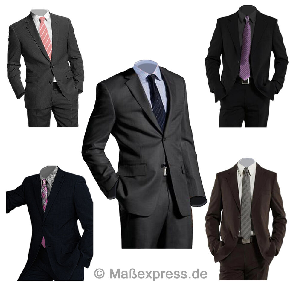 business herrenanzug jacket sakko blazer hose anzug hochzeit schwarz grau blau ebay. Black Bedroom Furniture Sets. Home Design Ideas