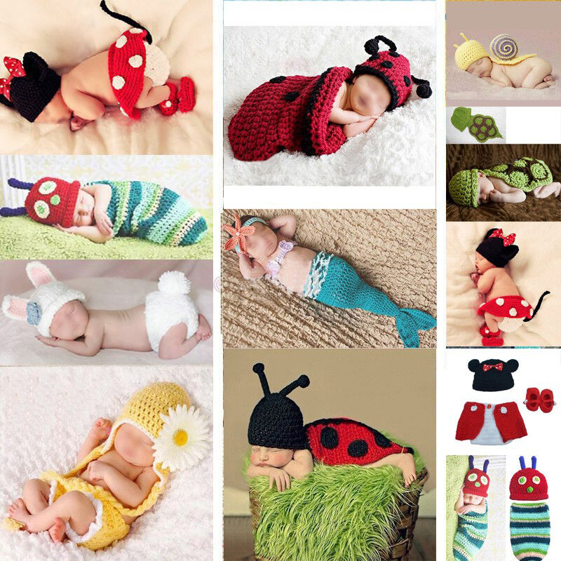 Baby Photo Prop Outfit Clothes Newborn Knit Crochet